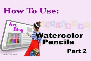 How to use watercolor pencils. part 2