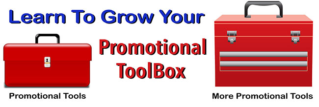 Money making art blog promotional tool box.