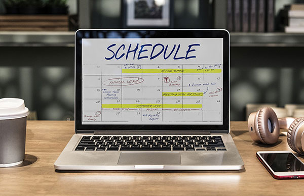 Schedule blog posts regularly.